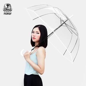 FGHGF Mango largo 8k Moda transparente paraguas masculinas hombres hombres automáticos creativo paraguas 201112