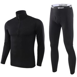 Men Winter Thermal Underwear Mens Fleece Sweat Thermo Underwear Men Tight Fitness Camouflage Tracksuit Riding pants underwear 201007