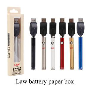 HOT Sale Vertex Vape Battery 350mAh LAW Preheat Battery Co2 Oil VV Adjustable 510 Thread Ecig Batteries with USB Charger