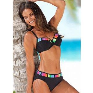 TYAKKVE Sexy Bikini Set Swimwear Women Print Swimsuit Push Up Polka Dots Plus Size Bathing Suit Beachwear Biquini XL