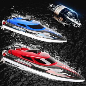 Nuovi RC Boat hj808 25 kmh 2.4G ad alta velocità da corsa di telecomando Nave Acqua Speed Boat bambini il giocattolo del modello di qualità Premium