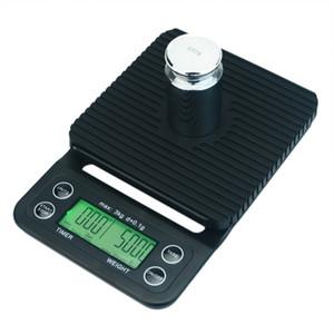 3000 g / 0.1g Coffee Digital Drip con temporizador Multiquilibrio Multiquile la cocina Peso de los alimentos Escala de hogares 201211