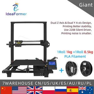 Ideaformer Kimlik Dev FDM 3D Printer 400 * * 450mm 400 Çift Z Y Ekseni temperli cam Platformu Isı Yatak Yapı Yüzey DIY 3D Printer.