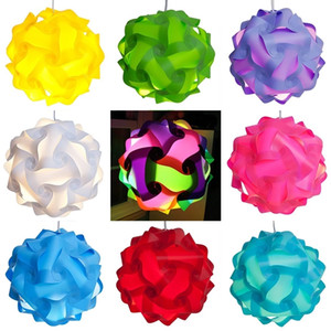 DIY IQ Puzzle Light Jigsaw Light Lamp Shade Ceiling Lampshade Creative DIY Chandelier Light 30pcs set