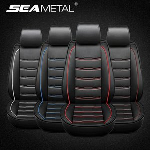 Full Set Car Seat Covers Four Seasons Universal Fit 5 Seats Surrounded Waterproof PU Leather Automobiles Seat Covers Protector
