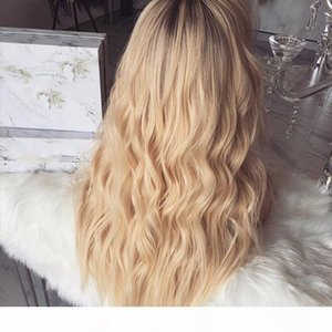 European and American wigs are fashionable and fashionable before lace chemical fiber wigs flax gradually wavy curls daily party wig covers
