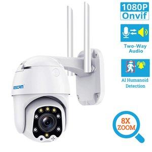 HD1080P H.265 8X Digital Zoom Wireless PTZ WiFi IP Camera AI Humanoid Detection Cloud Storage Waterproof Onvif Surveillance Cam