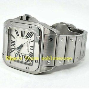 2 Renk Üst Erkek Otomatik 100 XL W200737G W200728G Paslanmaz Çelik Sarı Altın Beyaz 2656 38mm İzle Bilezik Erkek Mekanik Saatler