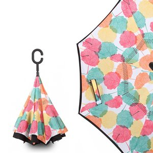 Hands Free Fashion Umbrella Reverse Type C Sunshade Ultravioletproof Umbrellas Long Handle Doubledeck Originality Car New Arrival 17xy M2
