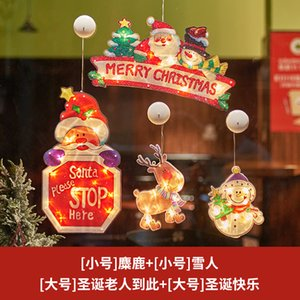 2020 New-style Christmas decoration holiday dress shop window ornaments scene layout Christmas tree small ornaments bell pendant