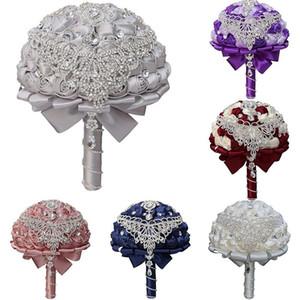 Bling Diamond Brooch Bride Wedding Bouquet New Jeweled Tassel Crystal