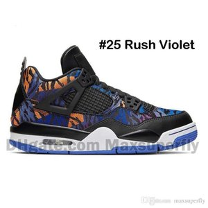 New Mens basketball shoes 4 RUSH VIOLET Loyal Blue What The Cool Grey PALE CITRON 4s RAPTOR Athletic sports sneakers trainers size 7-13