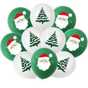 10Pcs Santa Claus Xmas Tree Latex Balloon Confetti Air Ballons Merry Christmas Party Baloons Kids Birthday Party Supplies