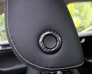 Для Skoda водн Karoq 2017 2018 ABS пластик салона сидений в подголовниках Регулировка Декоративное кольцо Обложка TRIM 2pcs автомобиля Стайлинг P6IF #