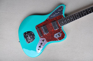 Factory Custom Green Electric Guitar with Red Tortoise Pickguard,Rosewood Fretboard,22 frets,Can be Customized