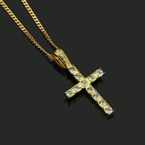Miami Cuban Chaînes pour hommes Hop Hop Cross Bijoux En Gros Couleur Gold Couleur épais en acier inoxydable Long Big Chunky Collier Cadeau