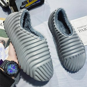 Snow boots men's winter new warm and velvet thick shoes men's pedal waterproof non-slip indoor cotton slippers