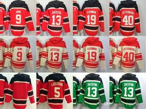 2016 Nuevo, Nuevo 19 Steve Yzerman capucha de antaño de 5 Nicklas Lidstrom 13 Pavel Datsyuk hockey sudadera con 9 Gordie Howe 40 Henrik Zetterberg Ho