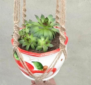 Hangers Macrame Pots Holder Rope Wall Planter Hanging Plant Holders Indoor Flowerpot Baske bbyBHD yh_pack