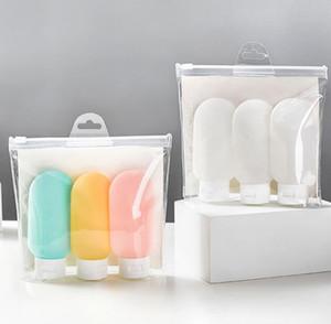Tragbare PE-Flaschen Mini leere Reiseverpackungsflaschen für Lotion Shampoo-Bad-Flaschen Behälter Schlauch Außen-Spielraum-Flaschen 60ml GGE2086