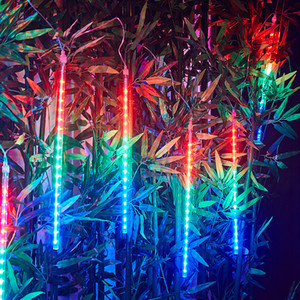 30cm 50cm 8 Tubes Waterproof Meteor Shower Rain LED String Lights Outdoor Christmas Tree for Home holiday Decoration