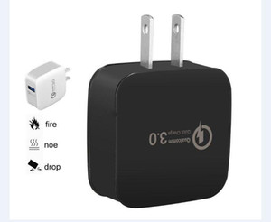 QC3.0 Adaptive Fast Charge Quick Charge Travel Adapter Home Wall Charger US EU für Samsung HTC LG