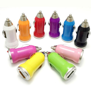 USB Car Charger Colorful Bullet Mini Car Charge Portable Charger Universal Adapter for iphone 12