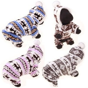Winter Pet Dog Clothes Fashion Pet Puppy Warm Coral Fleece Clothes Reindeer Snowflake Jacket Apparel Dog Co bbyjNL packing2010