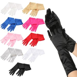 1Pair Wrist Stretch Satin Classic Adult Skin Elbow inger Long Gloves Women Flapper Gloves Matching Wedding Prom Costume Dropship