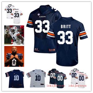 Benutzerdefinierte NCAA AU College Football Jersey # 24 Cord Sandberg # 0 Owen Pappoe # 33 KJ. Britt Keiondre Jones Devan Barrett # 3 DJ. Williams Jersey