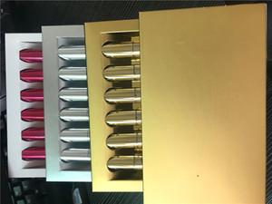Altın Doğum Günü Sürümü Tatil Kozmetik Mat Sıvı Ruj Mini Kiti Dudak Sınırlı Altın Kutu 6 adet / takım Dudak Gloss 3set