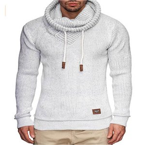 2020 men's high neck European size new men's jacquard long-sleeved sweater men's bottoming shirt warm casual pullover Size M-2XL