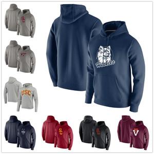 Virginia Tech Hokies Maroon Vintage Logo USC трояны Heathered Gray Vintage Logo Club руно UConn хаски пуловер Hoodie синий