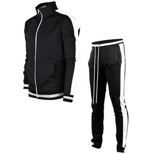 2020 New Autumn Winter Casual Solid Sets Stripe Tracksuits Sportswear Sweatshirt Pants Jogging Clothes Sports Suit Tracksuit Men