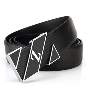 White student young men's leisure Korean fashion smooth buckle personalized leather belt for men