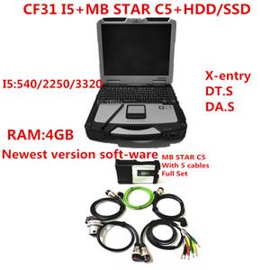 ميغابايت نجمة SD ربط C5 مع أحدث لينة وير 2020.09 أداة تشخيصية ميغابايت نجمة C5 ve.diamo / X-دخول / DT.S مع CF31 أجهزة الكمبيوتر المحمول