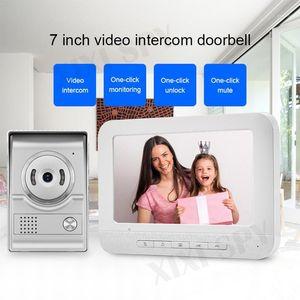 Intercom Video Doorbell Video-Eye Intercomés de una casa Llamada privada Inicio Intercomista Portero Teléfono Entr1