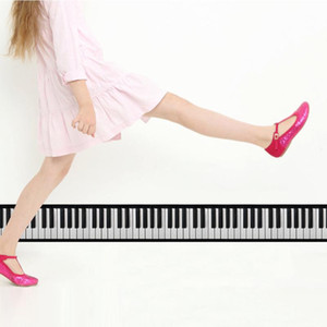 3d Piano Key Fashion Stickers Living Room Kitchen Waist Line Baseboard Waterproof Sticker Self-adhesive Home Wall Decoration