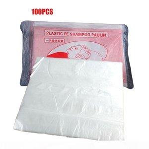 100Pcs pack Hair Salon Disposable Waterproof Hair Washing Pad Clear Shampoo Bags Capes Hair Cleaning Shawl
