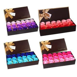 18 stücke duftende rose blume blütenblatt badekörper seife rose seife blume romantische aroma hochzeitsparty geschenk für luxuriöses bad