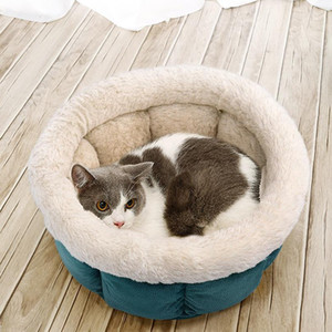 Warm Cat Bed Round Pet Puppy Cat House Nest Soft Sleeping Bag Pet Basket Cushion Puppy Kennel For Small Meduim Cat jlltuP