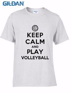Marke Mode-Rundhalsausschnitt Best Selling Male Natur Keep Calm And Play Volleyballer Design Sport mit Kapuze SweatshirtHoodie Männer T-Shirt