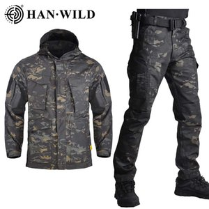 HAN WILD M65 Army Jacket Set Clothing Shell Military Tactical Camouflage Hunting Jackets & Pants Suits Waterproof Windproof
