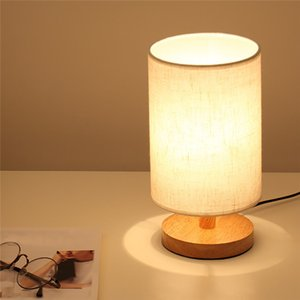 2020 Nordic creative small lamp simple warm bedroom bedside cloth eye protection LED dimmer night lamp