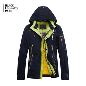 BlackleOpardWolf Yeni Varış Bahar Ceket Erkekler Kalın Pamuklu Yüksek Kalite Bir Hood ile Bahar ZC-027 201023