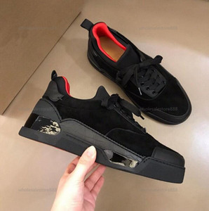 2021 New Fashion progettista Red Bottom Skate Trainers Man Woman Sports Flats Skateboarding RED Sole Sneakers Aurelien Low Casual Shoes