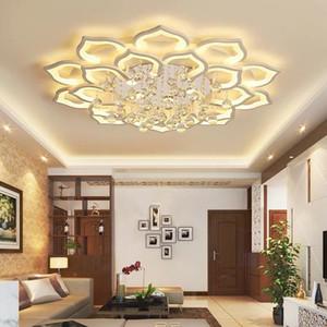 Modern embedded installation household white LED K9 crystal ceiling chandelier lighting for living room, bedroom, kitchen light