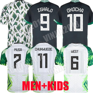 2020 Musa Osimhen Jersey de football 20 21 Maillot de pied Okechukwu Ighalo Okocha Ahmed Musa Ndidi Mikel Iheanacho Hommes Kit Kit de football