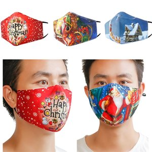 Unisex Christmas Masks Washable mask Adults Mask Anti Dust Face Mask Mouth Cover PM2.5 Respirator Fashion Face Masks Xmas Cheap F102104