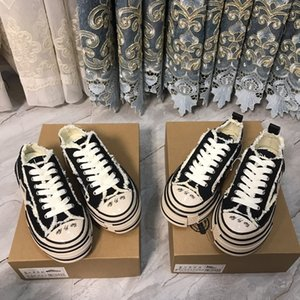 Versión coreana de moda transpirable con suela gruesa para mujer de cuña de la zapatilla de deporte chica de diseño de lujo de zapatos de lona Plataforma Espadrille Zapatillas 34-40